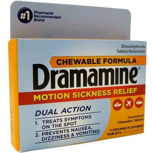Adventure Medical Kits Dramamine Chewable, Pkg 12 5010-0190