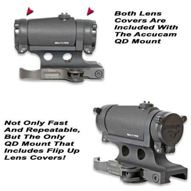 GGandG Accucam Quick Detach Aimpoint T-1/H-1 Mount 1237 813157000935