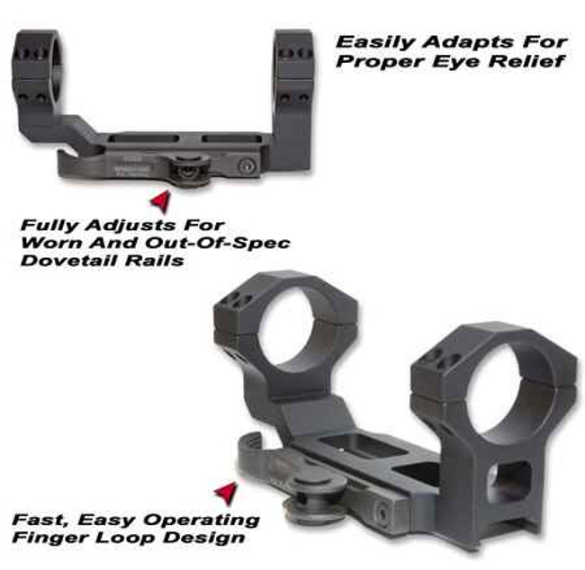 GGandG AC-30 Accucam QD Scope Mount with 30mm Integral Rings 1238-GG 813157000942