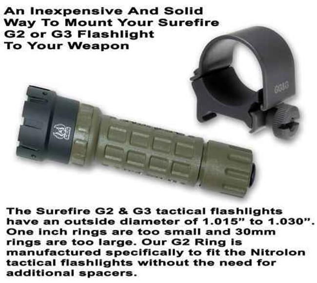 GGandG G2 Flashlight Mounting Ring 1389 813157002298