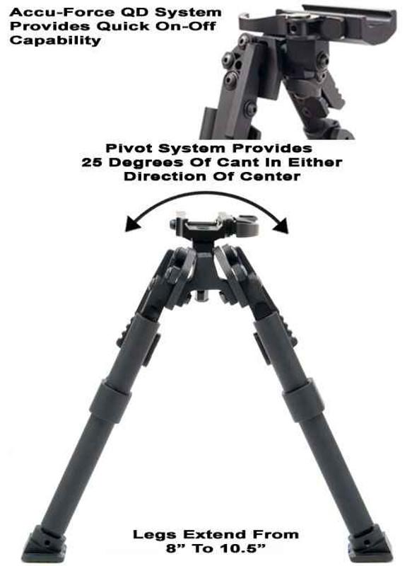 GGandG XDS Quick Detach Heavy Duty Bipod 1409-GG 813157003486
