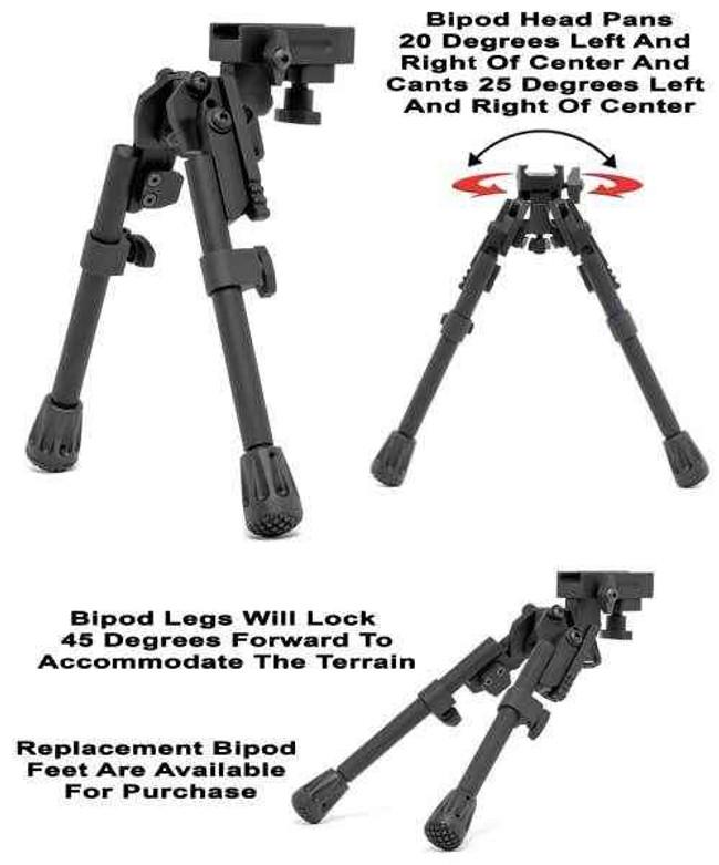 GGandG XDS-2 Tactical Bipod 1527 813157003905