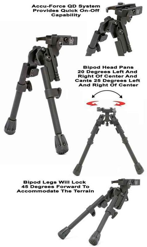 GGandG XDS-2 Quick Detach Tactical Bipod 1557 813157004964
