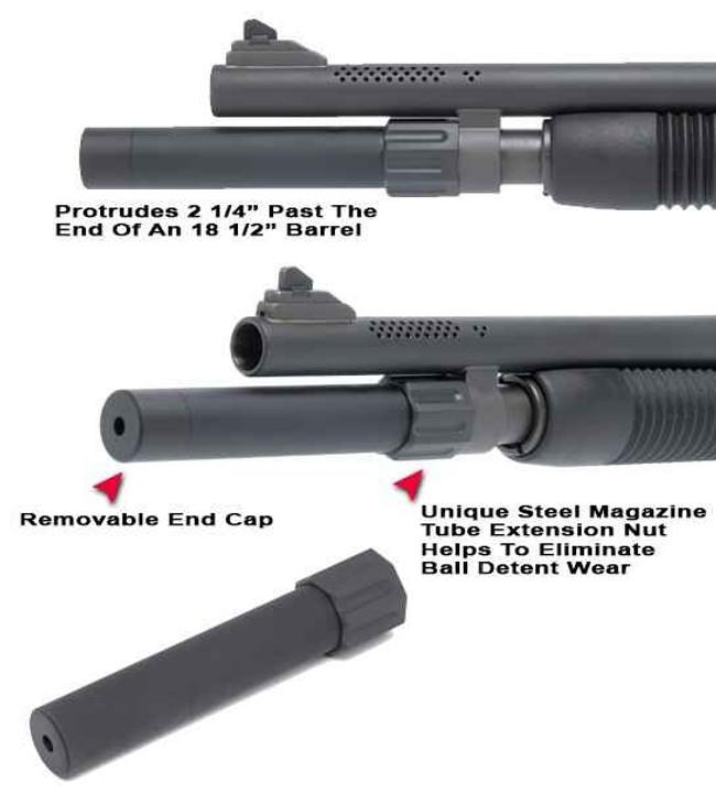 GGandG Mossberg 590 2-Shot Magazine Extension Tube 1624 813157005596