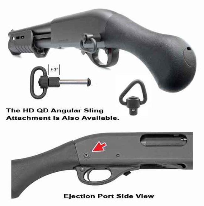 GGandG Remington 870 Tac-14 QD Rear Sling Attachment with HD Swivel 1995-GGG 813157008252