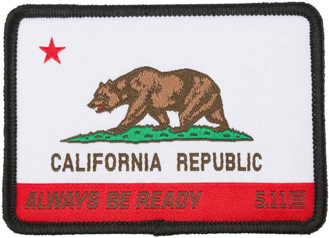 5.11 Tactical California State Flag Woven Patch 81071 81071-51