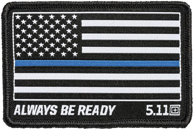 5.11 Tactical Thin Blue Line Flag Woven Patch 81298 81298-511 888579190380