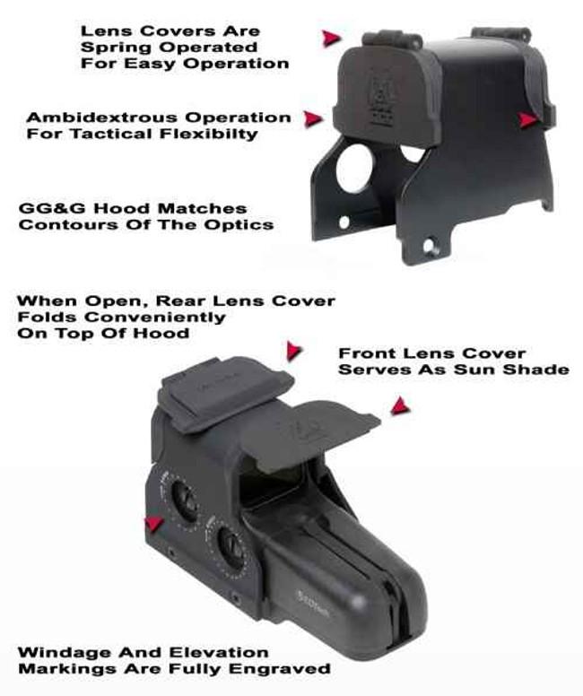 GGandG Hood and Lens Cover for EOTech 500 Series HOODLENS