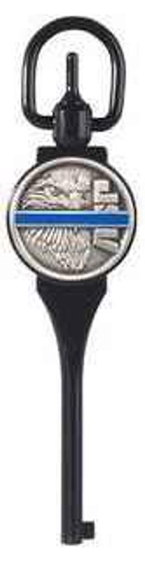 ASP Black Chrome Blue Line G1 Extended Handcuff Key 56316 092608563162