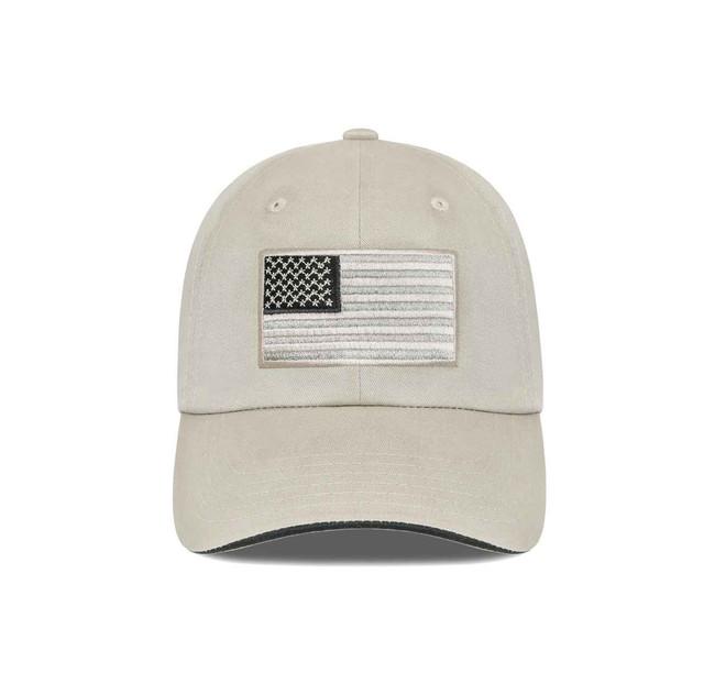 LA Police Gear Tactical USA Flag Hats - Tan FLAG-NOLOGO-TAN 123456789258
