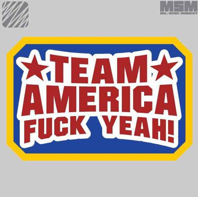 Mil-Spec Monkey Team America Fuck Yeah Patch TAFY