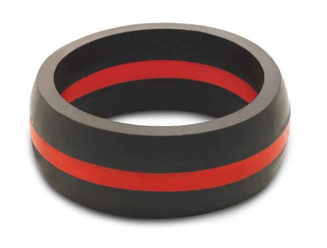QALO Mens Thin Red Line Ring M-TRL
