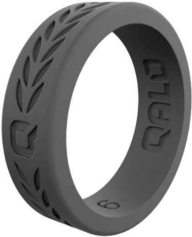 Qalo Womens Laurel Charcoal Grey Q2X Silicone Ring QS-FHC