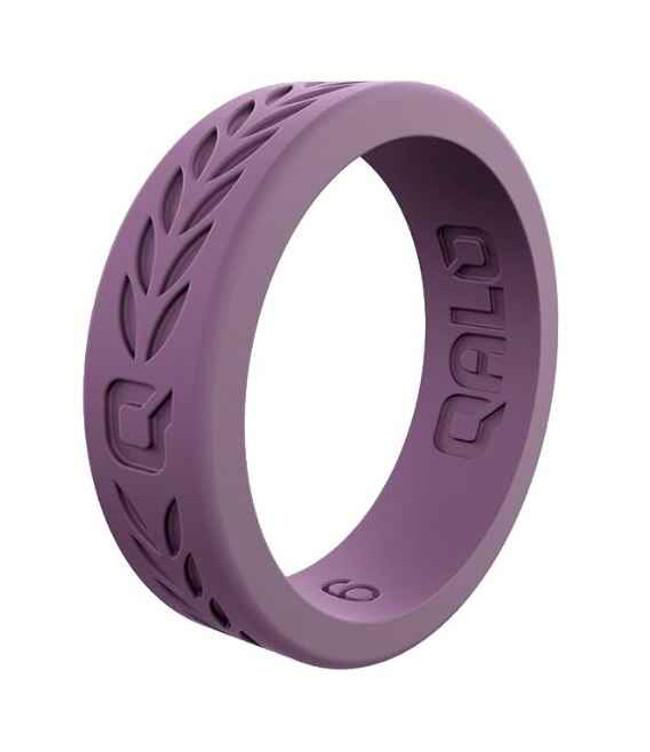 Qalo Womens Laurel Lilac Q2X Silicone Ring QS-FHL