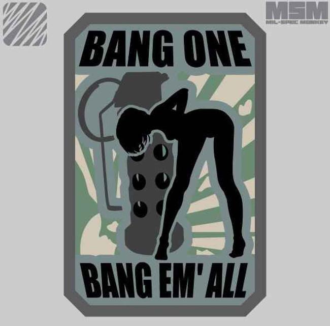 Mil-Spec Monkey Bang One Bangem All Patch BANGONE-SMALL