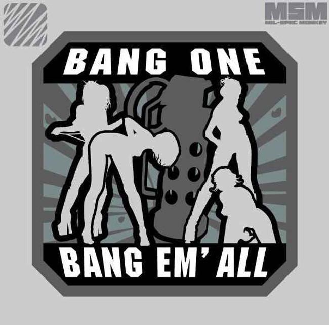 Mil-Spec Monkey Bang one Bang em All LARGE Patch 26BANGLARGE - LA Police Gear