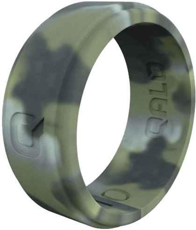 Qalo Mens Step Edge Camo Q2X Silicone Ring QS9-MSR