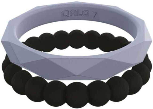 Qalo Womens Stackable Collection F Silicone Ring QS9-SCF