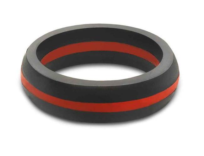 QALO Womens Thin Red Line Ring W-TRL