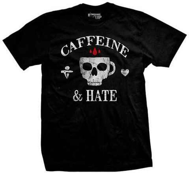 Ranger Up Caffeine and Hate Skull Mug Vintage Shirt RU1176