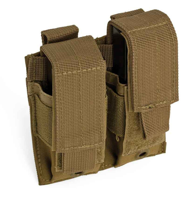 Red Rock Outdoor Gear Double Pistol Mag Pouch 82-023 Coyote