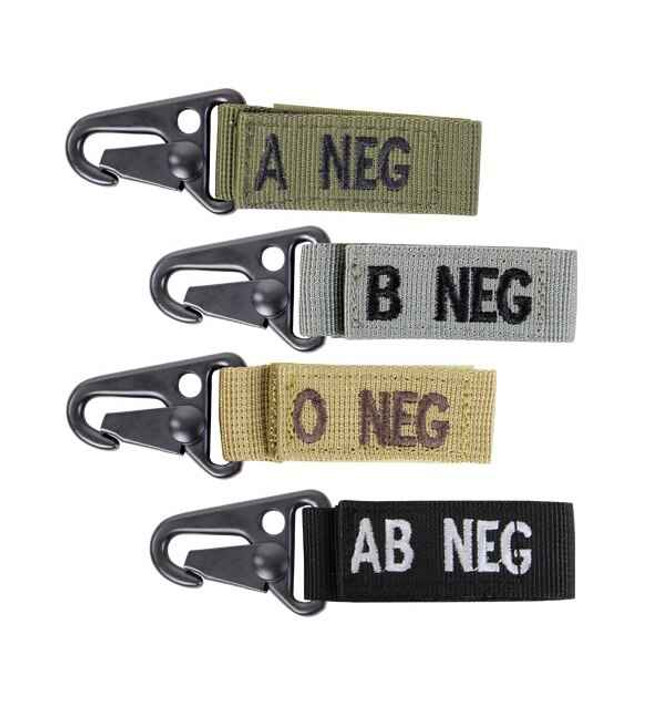 Condor Blood Type Keychain 4 Pack 239