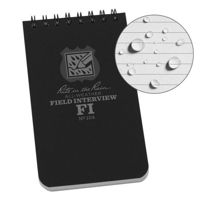 Rite in the Rain 3x5 Notebook - Field Interview 104-RI