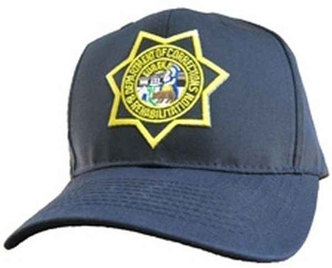 Heros Pride California Department of Corrections Star Patch on Black Cotton Twill Cap 6724AT