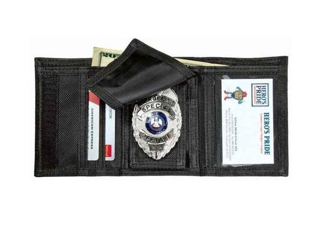 Heros Pride Tri-Fold Ballistic Badge Wallet with ID Window and Credit Card Slots 9160U 849204017281