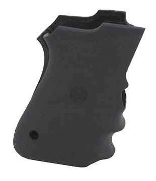 Hogue Grips SandW Compact 9mm Double Stack Mag Rubber Grip with Finger Grooves 3413 743108690000