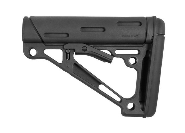 Hogue AR-15/M16 OverMolded Collapsible Buttstock Fits Mil-Spec Buffer Tube MILSPEC-STOCK