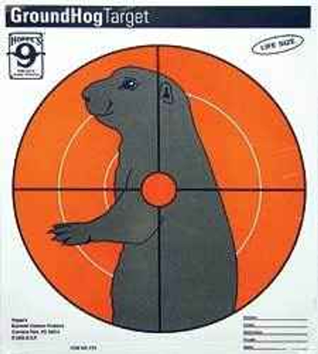 Hoppes 9 Critter Paper Target 10.5x12 Groundhog 20/Pack CT2 CT2 026285515374