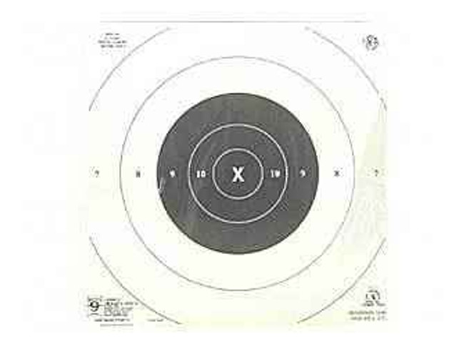 Hoppes 9 NRA B-8CP Target 25 Yd Rapidfire Ctrs 20/Pack B9 B9 026285511710