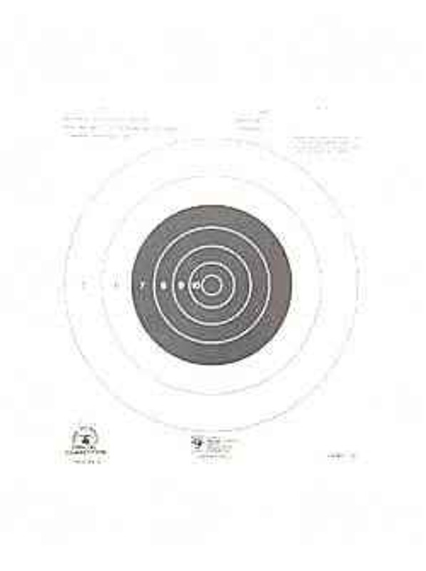 Hoppes 9 Rifle NRA TQ-4 Target 100 Yd Small Bore 20/Pack A14 A14-HO 26285510553