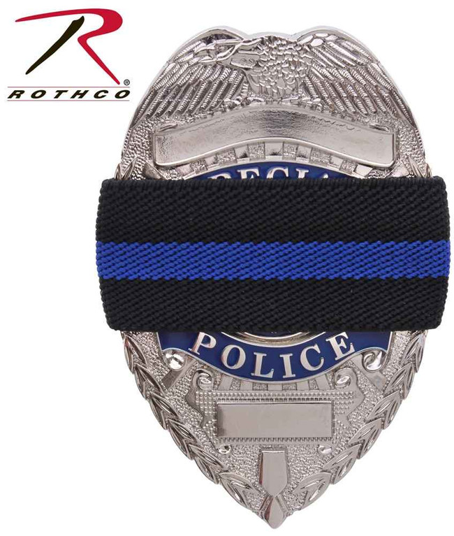 Rothco Black Thin Blue Line Mourning BandA 1004-RO