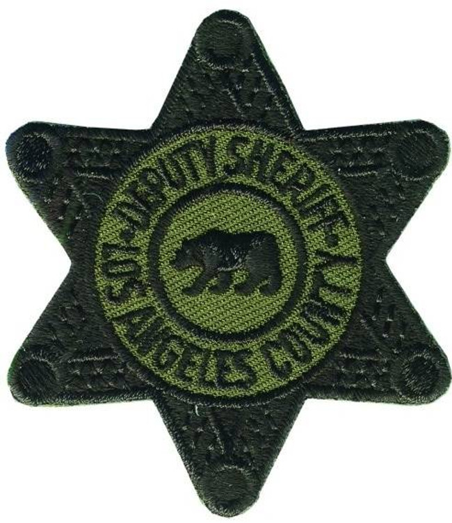 Heros Pride LA County Deputy Sheriff Subdued Star Patch 5001-HP