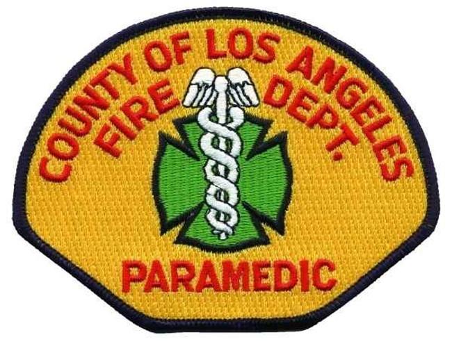 Heros Pride LA County Fire Department Paramedic Patch 5021-HP - LA Police Gear