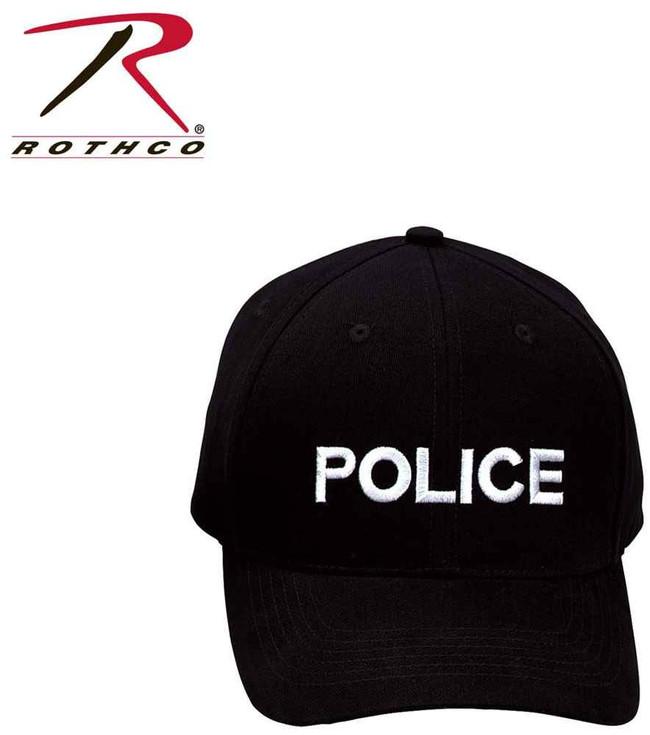 Rothco Police w/White Supreme Low Profile Insignia Cap 9283 613902928305