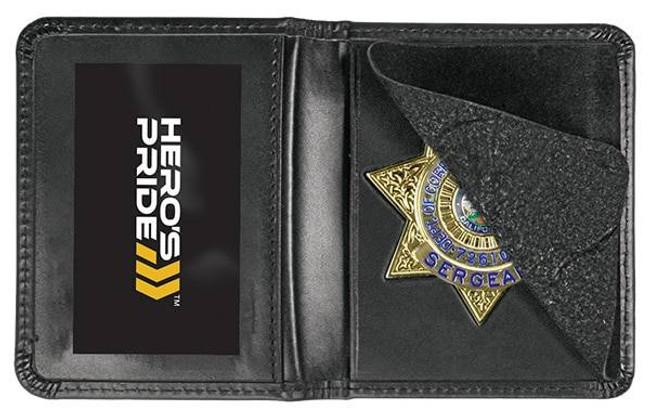 Heros Pride Deluxe Low Profile Badge Case with ID 9101 - LA Police Gear