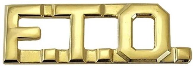 Hero's Pride Pairs FTO 3/8 Lettering FTO - LA Police Gear - Gold Lettering