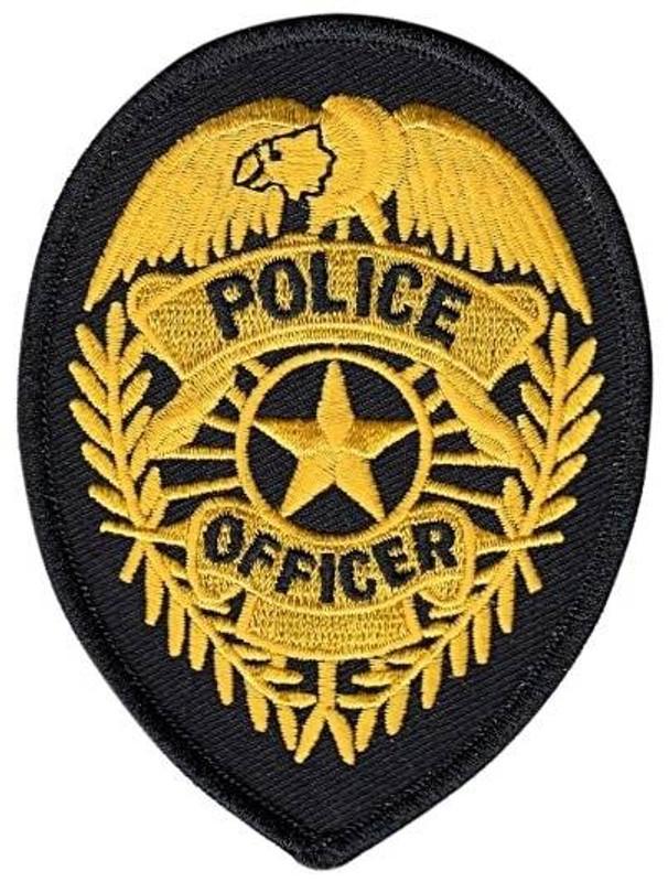 Heros Pride Police Officer Badge POLICE-OFFICER-BADGE - Silver/Black