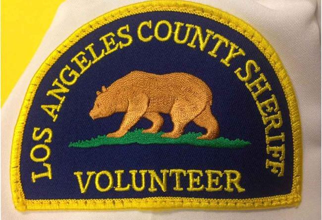 Heros Pride LA CO Sheriff Volunteer Patch SHERIFF-VOLUNTEER
