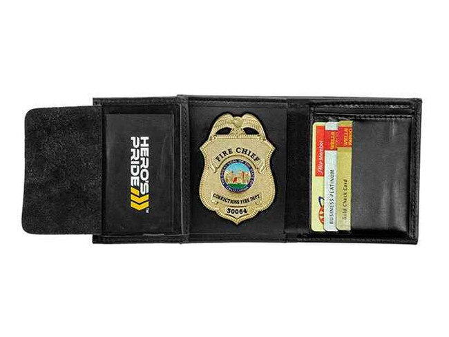Heros Pride Deluxe Tri-fold Badge Wallet with ID and Credit Cards 9120