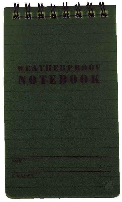 """5ive Star Gear Weatherproof 3"""" x 5"""" Notebook"""