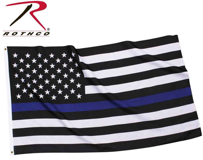 Rothco Thin Blue Line Flag TBLFLAG