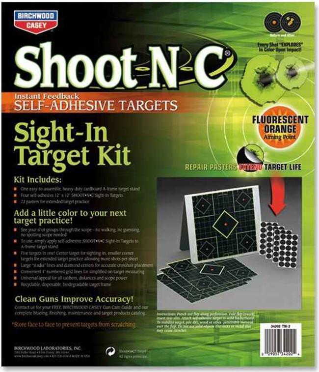Birchwood Casey Shoot NC Sight-In Target KIT 34202 029057342024
