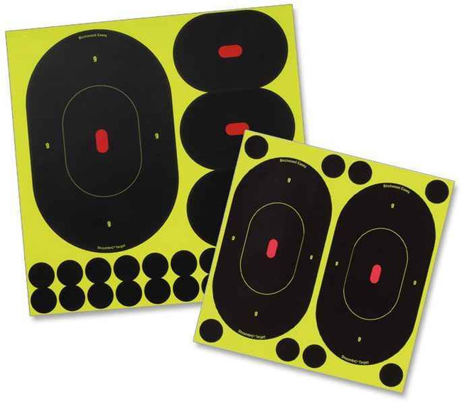 Birchwood Casey Shoot NC Self-Adhesive Targets 9 Silhouette Pack 34905 029057349054