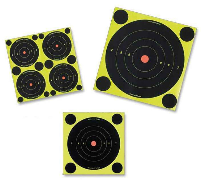 Birchwood Casey Shoot NC Self-Adhesive Targets - 3, 6 and 8 Bulls-Eye Packs BULLSEYE-BI
