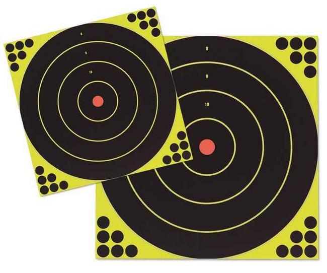 Birchwood Casey Shoot NC Self-Adhesive Targets 12 and 17.25 Bulls-Eye Packs LGSHOOT