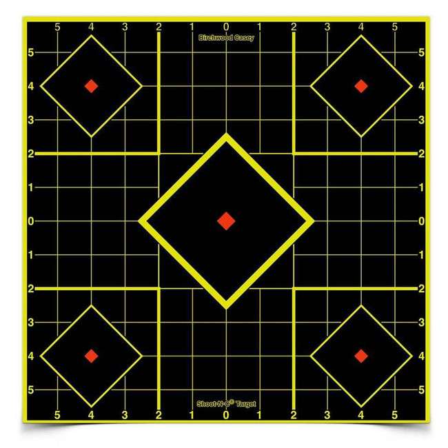 Birchwood Casey Shoot NC Self-Adhesive Targets 8 and 12 Sight-In Packs SIGHTIN